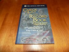 Whitman's Check List and Record Book US Paper Money Notes Official Red Book NEW