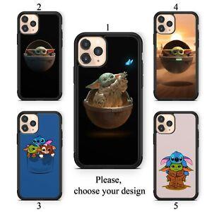 Mandalorian Baby Yoda case for iphone 11 12 XR Pro SE Max X XS 8 plus 7 6 TPU SN