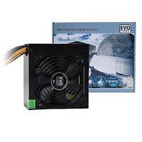 NEW! Evo Labs E-750BL 750W 120Mm Black Silent Fan Psu
