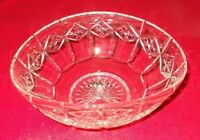 "STUART CUT GLASS OVAL SHAPED BOWL APPROX 8 1/2"" BY 5 1/2"" BY 4"" TALL"