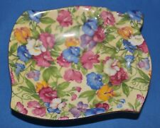"""Royal Winton Grimwades Chintz Sweet Pea Sweet Meat Dish """"Rare"""" Made In England"""