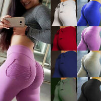 Women Pants Butt Lift Yoga Fitness Leggings Running Gym Scrunch Sportswear U12