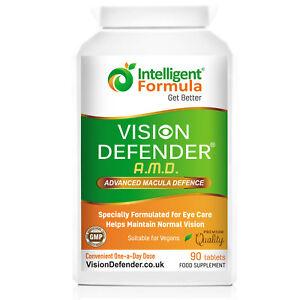 VISION DEFENDER AMD: AREDS2 Formula Vegan Macular Eye Vitamins Health Supplement