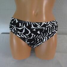 Tommy Bahama Pinwheel Palms High Waist Sash Swim Bottom Black/White S NWOT