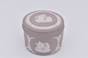 Wedgwood Jasperware Lilac Trinket Box with Lid 1950's No 80