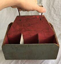 Vintage Handmade Rustic Wood Soda Pop/Beer/Ale Bottle Carrier, Crate, Holder
