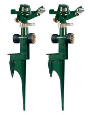 Orbit 2pk Metal Impact Sprinkler Head & Spike Base, Yard Water Sprinklers 56351N