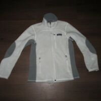 Patagonia R Regulator Light Gray Fleece Jacket Polar Tec Women's XS (Z8-15a)