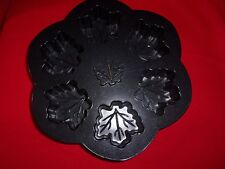 NORDIC MAPLE LEAF CAKELET BAKING PAN MOLD MAKES 6 WARE NEW WO/T