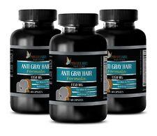 Promotes Hair Growth - ANTI GRAY HAIR 1350mg - Vitamins To Stop Grey Hair -3 Bot