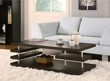 Aven Dark Cappuccino Coffee Table Cocktail Table Accent Center Table W Shelf