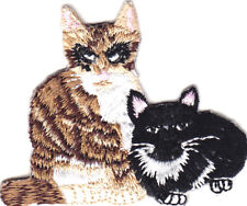 Cat & Kitten Iron On Embroidered Patch Cats Kitty Pets Tabby Animals
