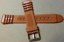 Timex Ironman Triathlon 19mm 8 Lap 5K842 Brown Rubber Sport Watch Band Indiglo