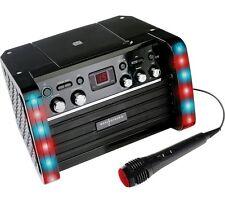 Easy Karaoke EK212 BLACK CD Graphics Karaoke Machine With LED Disco Lights Mic