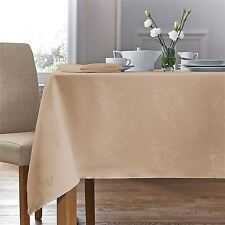 """WOVEN DAMASK ROSE BEIGE CIRCULAR ROUND TABLECLOTH 70"""" (178CM)"""