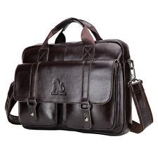 Men Leather Business Messenger Bag Carry All Laptop Computer Shoulder Handbag