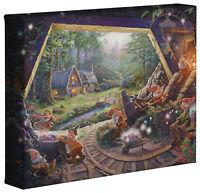 Thomas Kinkade Snow White and the Seven Dwarfs 8 x 10 Wrapped Canvas Disney