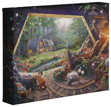 Thomas Kinkade Snow White and the Seven Dwarfs 8 x 10 Wrapped Canvas Disney