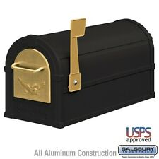 Salsbury Eagle Rural Mailbox - Black - Gold Eagle-MAILBOX 4855E-BLG NEW