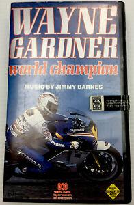 Wayne Gardner World Champion VHS Tape 500cc Motorcycle Championship Jimmy Barnes