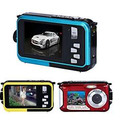 Doppio Schermo Impermeabile Full HD Fotocamera 24MP 16x Zoom Digitale