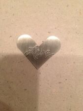 "Large (new) Heart Shaped ""love"" Origami Owl Living Locket Plates"