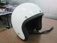 "Vintage LSI 4170 White 1975 Adjustable Open Face 4.50x6.50"" Motorcycle Helmet"