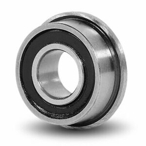2 x FLANGED MINIATURE BEARING MF148-2RS RUBBER SEALED ID 8mm OD 14mm WIDTH 4mm