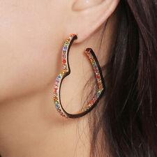 Fashion Crystal Rhinestone Heart Earrings Drop Dangle Earrings Women Jewelry ME