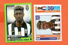2014 KINGSLEY COMAN 2 ROOKIE STICKERS JUVENTUS CALCIATORI E CHAMPIONS 2014 15