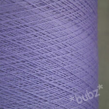 PURE MERINO WOOL YARN 2/30s LILAC 500g CONE LACEWEIGHT 1 PLY LAVENDER PURPLE NEW