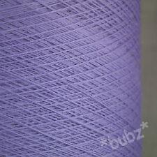 Hilado De Pura Lana Merino 2/30s Lila 500g Cono laceweight 1 capas Lavanda Púrpura Nuevo