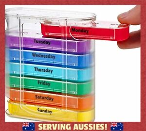 Weekly Pill Organiser, Twice-a-Day, 1 Dispenser with Stackable AM/PM  - AU