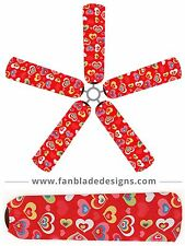 Hearts Ceiling Fan Blade Covers