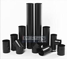 "Stove Flue Pipe Black Vitreous Enamel 5"", 6"", Choose Your Length 250,500,1000mm"