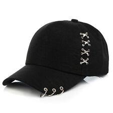 Baseball Hats Unisex Sun Hat Women Fashion Metal Cross Iron Ring Duck Tongue