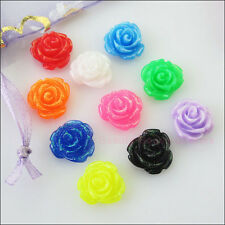 50Pcs Mixed Charms Resin Flowers Cameos fit Cabochons Settings Flatback 7mm