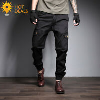 New Men's Outdoor Multiple Pocket Jogger Casual Cargo Loose Work Pants Plus Size