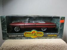 1/18 SCALE ERTL AMERICAN MUSCLE RED 1964 CHEVROLET IMPALA SS CONVERTIBLE