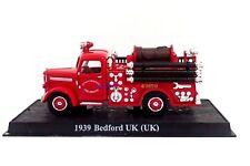 New 1:43 Diecast Fire Engine 1939 Bedford UK British Fire Truck Vehicle Model