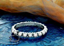 Silpada Sunken Treasure Pearl Hinged Sterling Silver Bangle Bracelet B2909 RARE