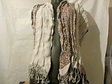 Ladies large 6ft scarf brown & beige with tassels