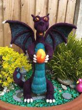 Seth the Dragon - Needle Felted Ooak handmade Dragon 100% wool