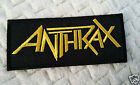 """""""ANTHRAX"""" EMBROIDERED PATCH THRASH ROCKABILLY TATTOO PUNK HEAVY METAL ROCK"""