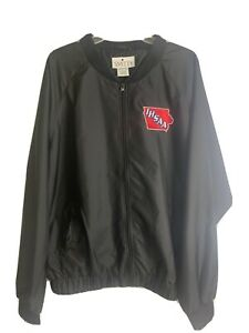 Smitty Black Umpire Jacket Size XL -IHSAA IOWA Water Resistant Referee Full Zip