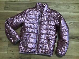 9-10 Years Girl's River Island Pink Shiny Glitter Puffer Jacket