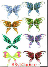 UK Colorful butterfly Lady Girl Kid Party crystal shiny Glitter Temporary Tattoo