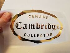 Cambridge Glass Collector Logo Gold Iron On for Tshirt or Bag