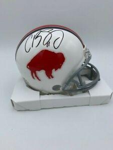 Cole Beasley Signed Buffalo Bills Throwback Mini Helmet COA Hologram
