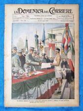 La Domenica del Corriere 17 luglio 1921 Vittorio Emanuele - Guglielmina - Slesia